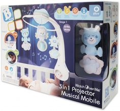 Infantino 3 in 1 projector musical mobile - blue