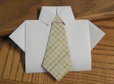 Oragami Shirt & Tie Card