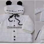 selanik-kapusonlu-bebek-hirka-tarifi-6-18-aylik Popular Ads, Baby Knitting Patterns, Winter Hats, Sacks