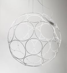 'Giro' pendant lamp by Formfjord for Fabbian Illuminazione. The light module can be placed in a any ring, depending upon where you want the light to be cast.