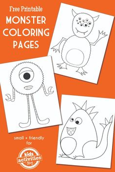 MONSTER COLORING PAGES - Kids Activities
