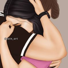 New black art drawings pictures 62 ideas Love Cartoon Couple, Cute Love Cartoons, Cute Love Couple, Anime Love Couple, Girly Drawings, Couple Drawings, Love Drawings, Girly M, Cute Muslim Couples