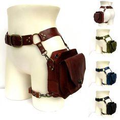 Moda Steampunk, Style Steampunk, Steampunk Clothing, Steampunk Fashion, Steampunk Belt, Steampunk Cosplay, Steampunk Accessories, Leather Utility Belt, Leather Fanny Pack