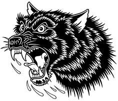Tattoo animal old school wolves 31 Ideas Mike Giant, Wolf Tattoo Traditional, Traditional Tattoo Old School, Old School Tattoo Designs, Tattoo Designs For Girls, Wolf Tattoos, Animal Tattoos, Dessin Old School, Wolf Hybrid