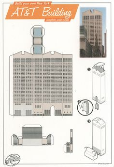 AT Building, New York - Cut Out Postcard by Shook Photos, via Flickr