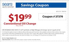 Coupon For Oil Change >> 23 Best Oil Change Coupons Images In 2015 Oil Change Coupon Coupons