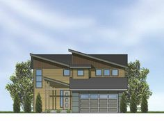 Contemporary Modern House Plan With 1595 Square Feet And 3 Bedrooms(s) From