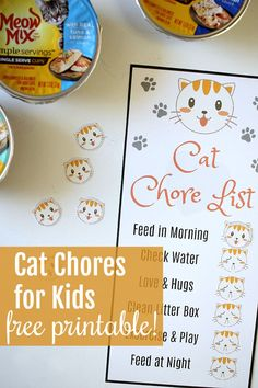Having a pet teaches children respect, compassion, and most importantly responsibility. Use this printable chart to help teach pet care for kids. #AD #MeowMixatTarget