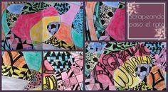 Dos nuevas páginas de mi diario artístico llenas de garabatos. Two new pages of my art journal full of doodles.