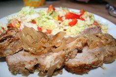 łopatka pieczona w musztardzie Russian Dishes, Russian Recipes, Yummy Food, Tasty, Food And Drink, Menu, Chicken, Dinner, Pork