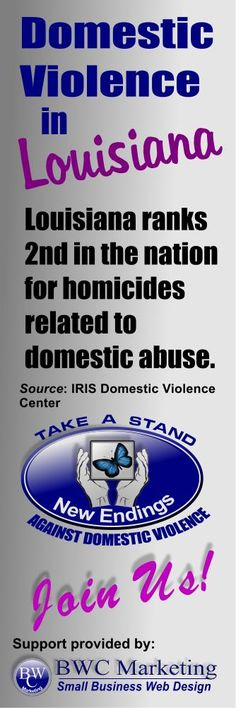 http://domestic-violence-effects.blogspot.com/p/domestic-violence-la.html #EndLADomesticViolence On September 15, 2010, the National Network to End Domestic Violence conducted a One Day Census of domestic violence services in Louisiana. On this day, 546 domestic violence victims found refuge in emergency shelters or transitional housing provided by local domestic violence programs.