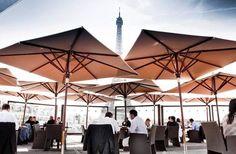 10 Best views in Paris. Les Ombres restaurant. Quai de Branly. Eiffel Tower View!