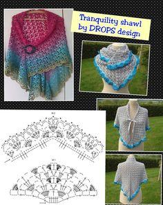 Tranquility shawl ~ http://www.garnstudio.com/lang/us/pattern.php?id=5590&lang=us ~ http://www.ravelry.com/patterns/library/137-29-tranquility---shawl-in-babyalpaca-silk