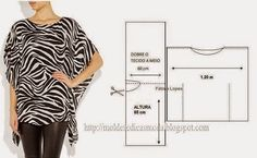 TUNIC PRINTED IN BLACK AND WHITE TONES - Molds for Measure Fashion