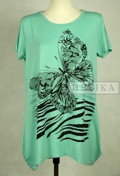 Koszulka tunika z motylem - sklep internetowy HEPIKA