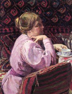 Georges-Daniel de Monfreid - Portrait of the Wife of the Artist with a Cup of Tea