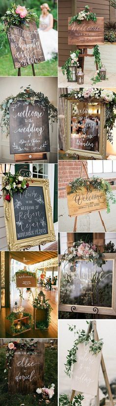 Want to do a welcome sign at the entrance. On top i would like to place flowers in our wedding colour. #BohoWeddingIdeas #DIYRusticWeddingflowers