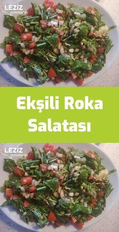 Sour Arugula Salad – My Delicious Food - Gesunde Desserts Salad Recipes Healthy Lunch, Healthy Chicken Recipes, Healthy Eating, Avocado Dessert, Avocado Toast, Arugula Salad, Turkish Recipes, Diet And Nutrition, Relleno
