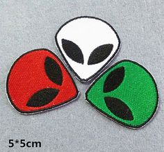 Alien Patch UFO Alien Patches embroidered patch by craftapplique