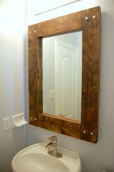 DIY Rustic Mirror   northstory.ca #farmhouse mirror