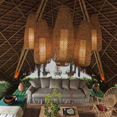 Hang rattan lamps under? Patio Tropical Homes Design, Pictures, Remodel, Decor and Ideas - page 9 Patio Tropical, Tropical Houses, Tropical Decor, Tropical Design, Tropical Style, Floor Design, Patio Design, House Design, Tiki Hut