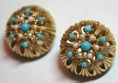Vintage designer signed Ciner clip earrings with by lbjool on Etsy, $25.00