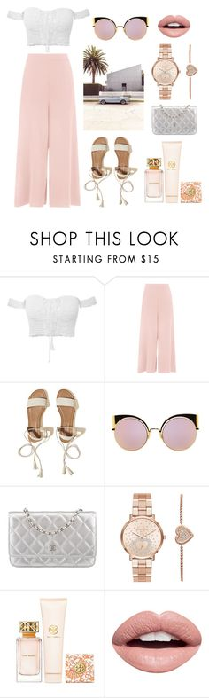 """""""Summer look for her"""" by linus-isotalus on Polyvore featuring Hollister Co., Fendi, Chanel, Michael Kors, Tory Burch and Nevermind"""