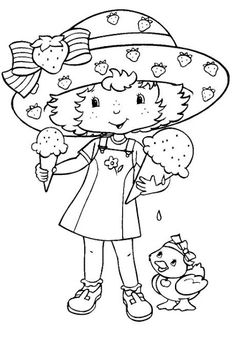 Coloring Book~Strawberry Shortcake - Bonnie Jones - Álbuns da web do Picasa Coloring Book Pages, Coloring Sheets, Strawberry Shortcake Coloring Pages, Cute Clipart, Coloring Pages For Kids, Kids Coloring, Digi Stamps, Printable Coloring, Copic