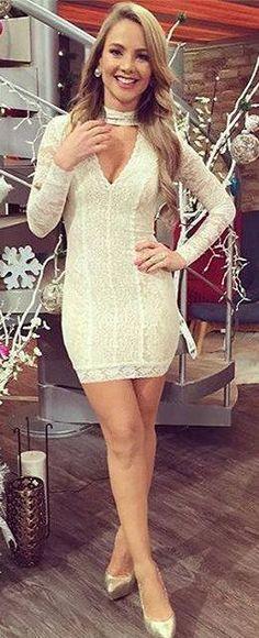 Lace holiday dress at bebe