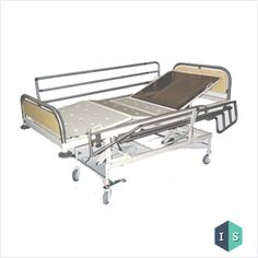 ICU Bed with SS Laminated Panel & SS Side Rail