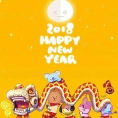 Happy Lunar New Year 2018 #BT21 #BTS