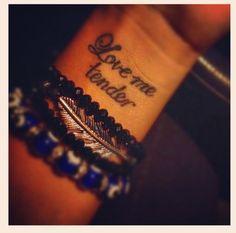 "My tattoo ""Love me tender"" Elvis my main man - omg i love this <3 me some Elvis baby!"