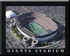 New York Giants MetLife Aerial View Poster- Framed