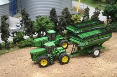Another John Deere toy tractor display.  Well done!