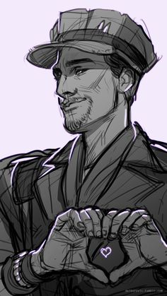 "delborovic: "" ""♥ Happy Valentine's Day from The Commonwealth~! ♥ "" I know a lot of people have done similar arts, but I wanted to do my own take and draw some fav boys: MacCready is for me, Nick is of..."