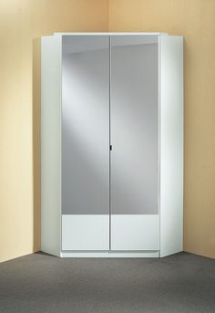 Armoire Du0027angle Contemporaine 2 Portes Coloris Blanc Adagio