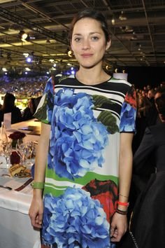 Marion Cotillard [Photo by Dominique Maître] I do love a good hydrangea.