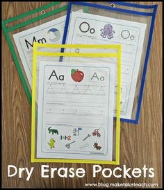 Dry erase pockets! Kids love them and you can use your worksheets over and over again.