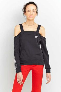 adidas Originals Cold-Shoulder Sweatshirt