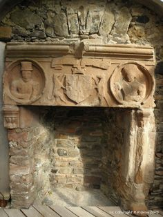 Huntley castle fireplace