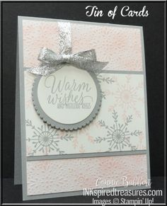 Several weeks ago, I worked on several cards using Tin of Tags and these soft colors.  You can see the one I posted already HERE.  So, here's another slightly different one I did!   &nbs…