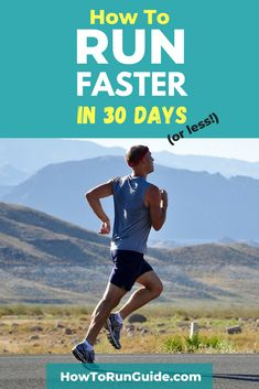 Find out the secret formula to run faster in 30 days (the healthy way)! Want to increase your running pace, but don't know how? Read this, and you'll know exactly what to do. Speed Workout, Running Workouts, Running Tips, Running Day, Body Workouts, Learn To Run, How To Start Running, How To Run Faster, Half Marathon Tips