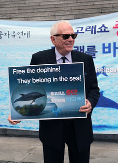 Free the dolphins! They belong in the sea.