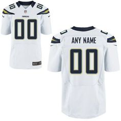 Nike San Diego Chargers Customized Elite Jersey - White