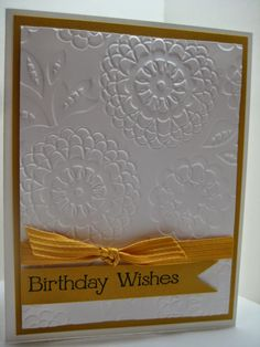 Goin' Over The Edge: Four You embossed birthday card
