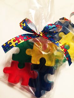 Puzzle Soap Custom Color and Fragrance Only EACH Autism Awareness Fundraiser - Christmas Gift Idea - Vegan Party Idea Fundraiser Food, Fundraising Events, Fundraising Ideas, Fundraisers, Autism Crafts, Autism Awareness Crafts, Puzzle Party, Balloon Weights, Adoption Party