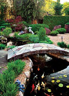 backyard design – Gardening Tips Fish Pond Gardens, Koi Fish Pond, Fish Ponds, Backyard Water Feature, Ponds Backyard, Garden Pond Design, Landscape Design, Jardin Decor, Pond Landscaping