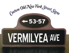 Old New York Street Sign Table Numbers. $3.00, via Etsy.