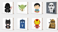 Teach your kids their ABCs with Darth Vader and Iron Man art blocks