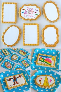 An art party!  Cookie Canvases for kids to color (and eat!)